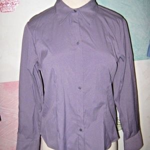 Dusty Silky Purple Stretch Button Collared Shirt